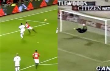 René Higuita es imitado por jugador del Manchester United