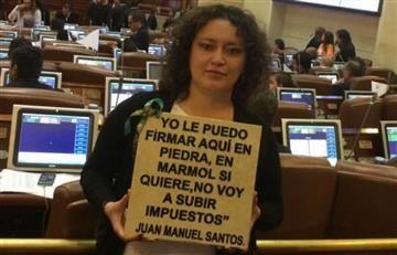 Santos rompe una promesa más con una reforma tributaria aprobada