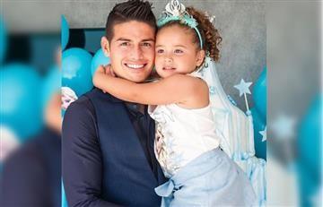 James Rodríguez enseña bailar salsa a su hija Salomé
