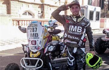 Christian Cajicá, mejor colombiano en el inicio del rally Dakar