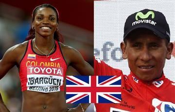 Caterine Ibargüen y Nairo Quintana, mejores deportistas del año en el Reino Unido