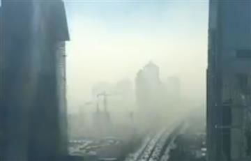 China: Impactante nube de humo envolvió varias ciudades
