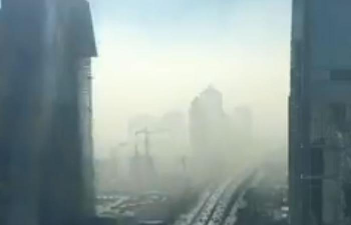 Nube envuelve Pekín. Foto: Twitter