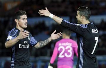 James Rodríguez: así lo felicitó Cristiano Ronaldo tras su doblete