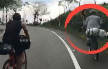El campesino que dejó en ridículo a dos ciclistas europeos