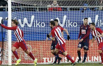 Atlético de Madrid sumó 3 puntos de visitante ante el Eibar