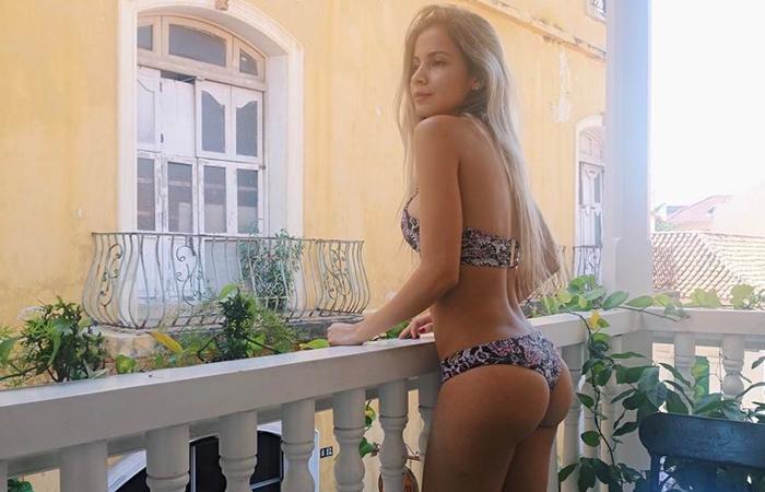 Karin Jiménez, esposa de Santiago Arias subió la temperatura en las redes sociales