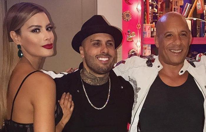 Ariadna Gutiérrez, Vin Diesel y Nicky Jam bailan juntos