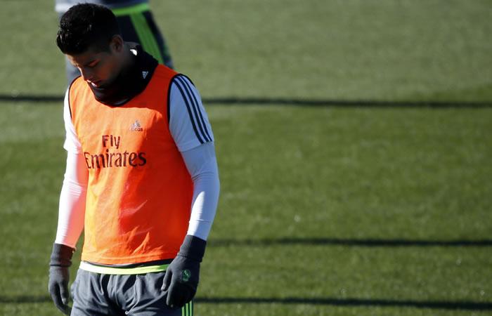 James Rodríguez sufre una lesión muscular