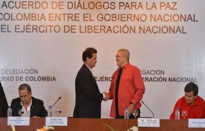 Diálogos con el ELN. Foto: EFE