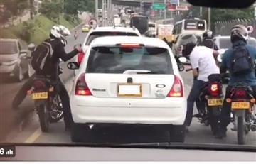 Medellín: Capturan hombres que atracaron un carro en la Autopista Norte