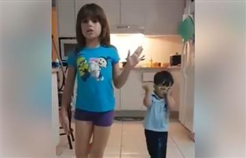 Facebook: Hermanitos son furor por su imitación a Pimpinela