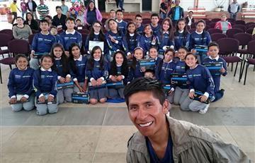 Nairo Quintana y el gesto con los niños que conmueve al país