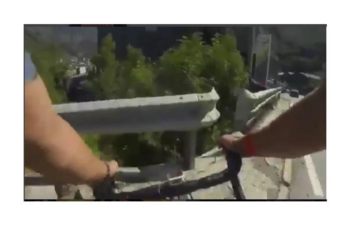 Purito Rodríguez graba su impresionante caída a un barranco