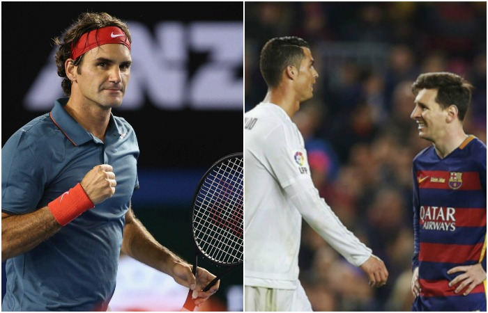 Roger Federer le da 'sopa y seco' a Messi y Cristiano con esto