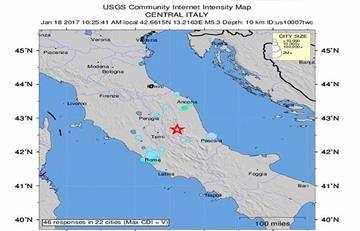 Terremoto de magnitud 5,4 vuelve a sacudir el centro de Italia