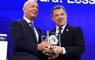 Juan Manuel Santos fue premiado en Suiza como 'Mejor Estadista Global'