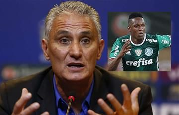 Yerry Mina: Técnico de la Selección de Brasil lamenta no poder convocarlo