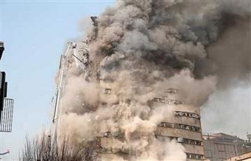 Teherán fue escenario del impactante derrumbe de un edificio