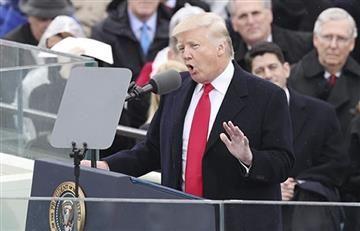 Donald Trump da su primer discurso como presidente de Estados Unidos