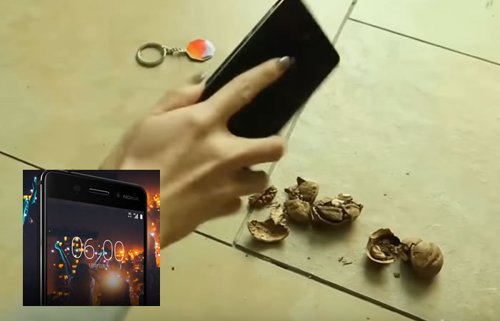 Nokia demuestra su resistencia. Foto:Youtube