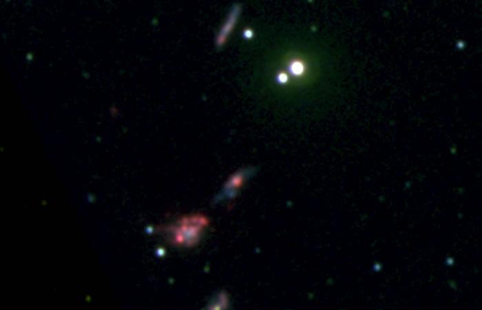 Galaxias enanas. Foto: EFE