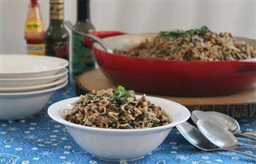 ¿Cómo hacer un arroz con coco y lentejas?