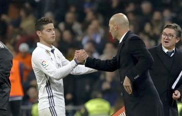 James Rodríguez: Zidane dio tranquilidad de lo que padece el colombiano