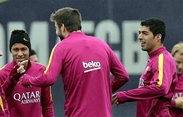 Neymar y Suárez, los bromistas del Barcelona en contra de Piqué