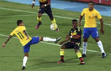 Colombia probó su nómina emergente ante Brasil