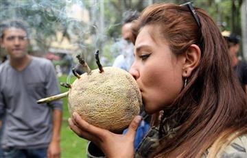Bogotá: 'Fumatón' de Marihuana contra el nuevo código de Policía