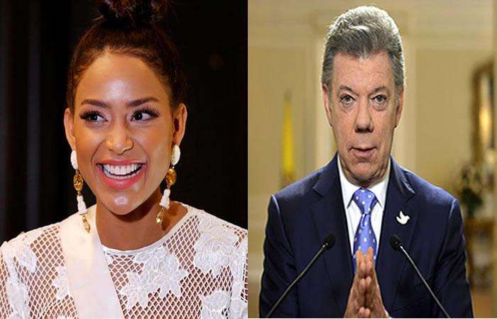Santos se refiere a la respuesta de Andrea Tovar Foto:EFE