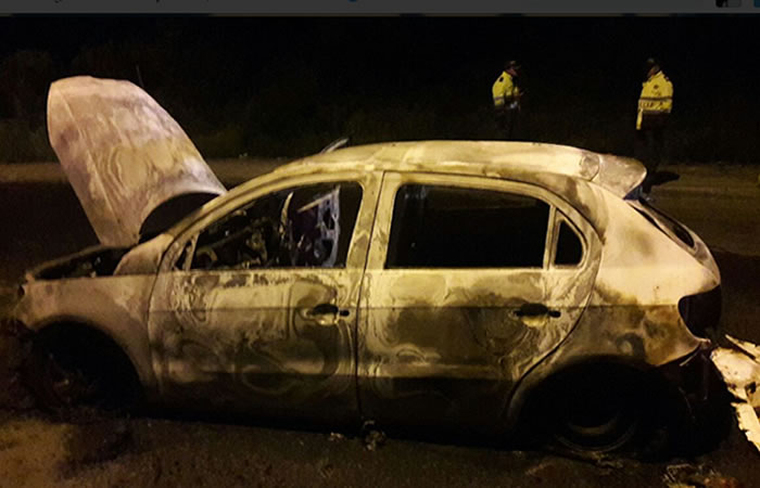 Uber:Capturan presuntos integrantes que quemaron carro en Bogotá