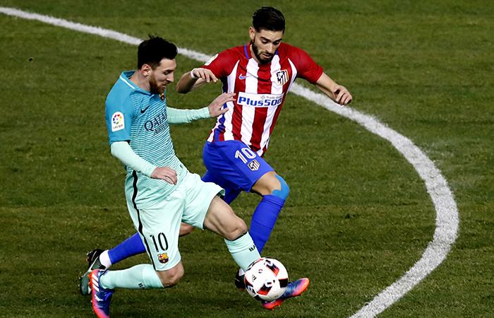 Atlético de Madrid y el Barcelona. Foto: EFE