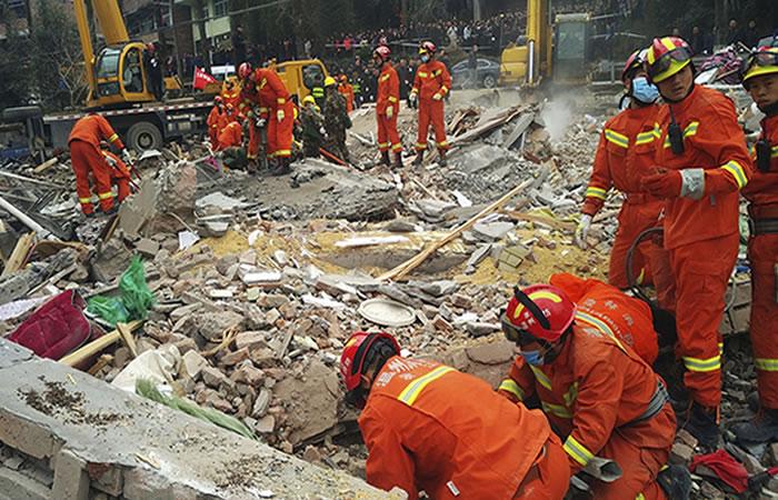 Cinco muertos por derrumbe de un edificio en China