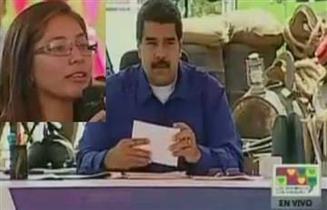 "Joven venezolana a Maduro: ""Mis compañeros se desmayan de hambre"""