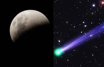 Eclipse lunar y un cometa aparecerán este viernes
