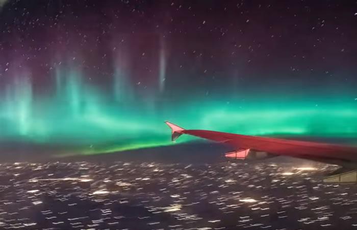 Aurora boreal. Foto: Youtube