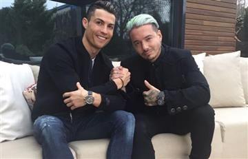 Cristiano Ronaldo y J Balvin compartieron un agradable momento