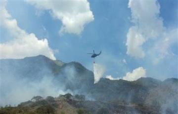 Incendio forestal afecta el aire en el Valle de Aburrá