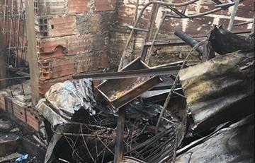 Mueren cinco niños en incendio en El Peñón, Bolivar