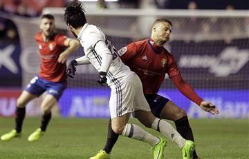 Terrible lesión de jugador del Osasuna tras chocar con Isco