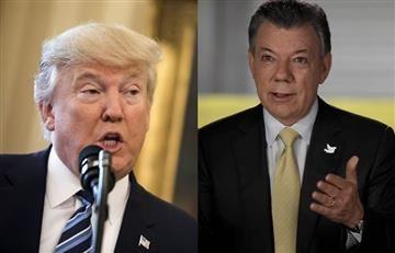 Trump manifestó apoyo a la paz de Colombia: Santos