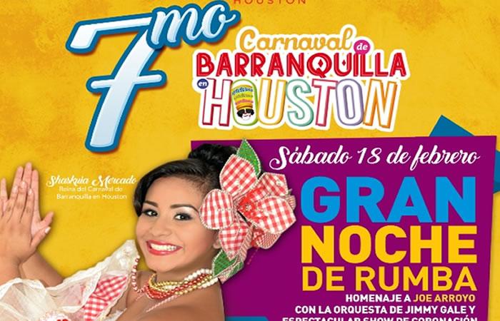 Celebra el Carnaval de Barranquilla en Houston