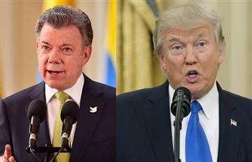 Trump y Santos preocupados por la crisis en Venezuela