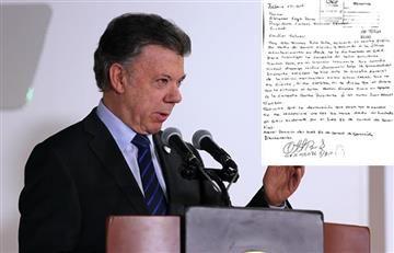 "Santos: Sobre carta de Otto Bula ""más claro no canta un gallo"""