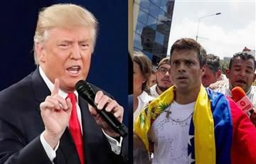 Trump pide a Venezuela la liberación de Leopoldo López