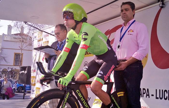 Rigoberto Urán avanzó un lugar en la general de la Vuelta a Andalucía