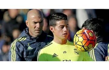 James Rodríguez no jugó ni un minuto en la victoria del Real Madrid