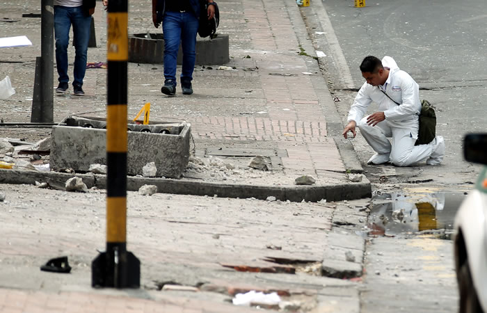 Explosión en la ciudad de Bogotá de una víctima fatal y 31 heridos. Foto: EFE